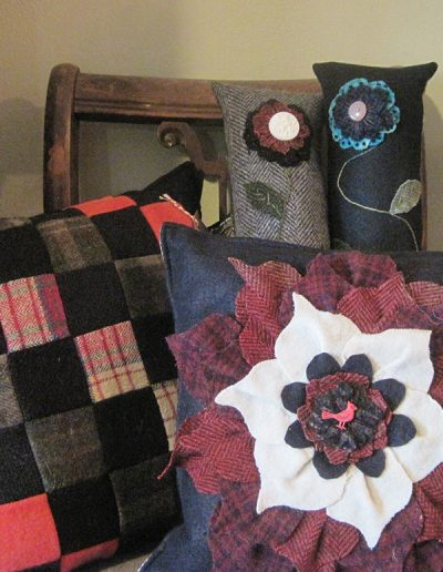 Brenda Kraemer fiber art: pillows