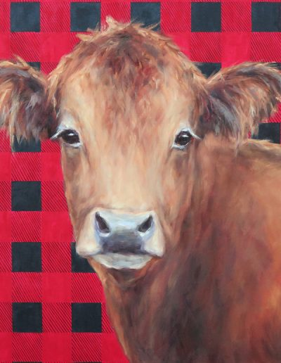 Painting of cow by Pamela Ruschman