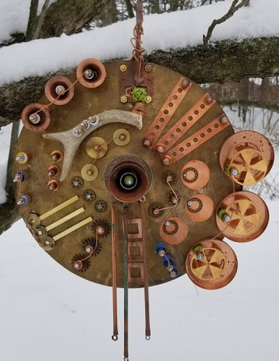 Sue Schuetz hanging circle sculpture
