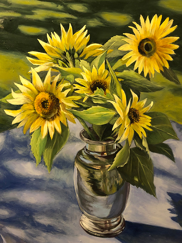 Sunflowers by Pamela Grabber