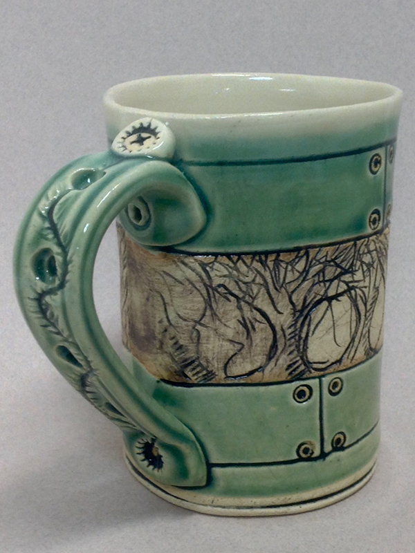Ceramic mug by Mikel Kelley