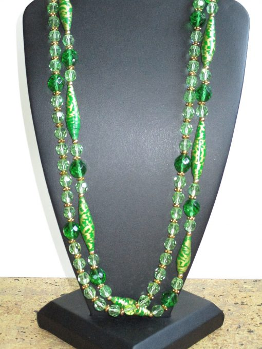 Green glass necklace by Tamlyn Akins