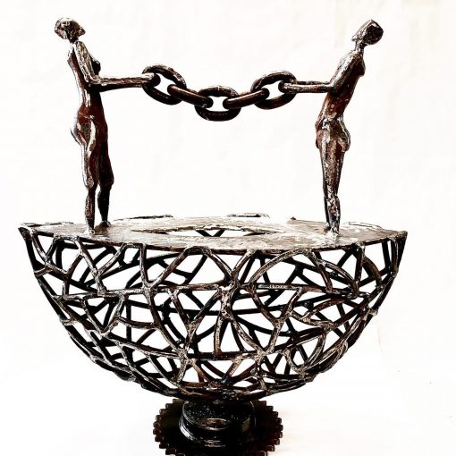 sculpture 'Bound' by john Pahlas