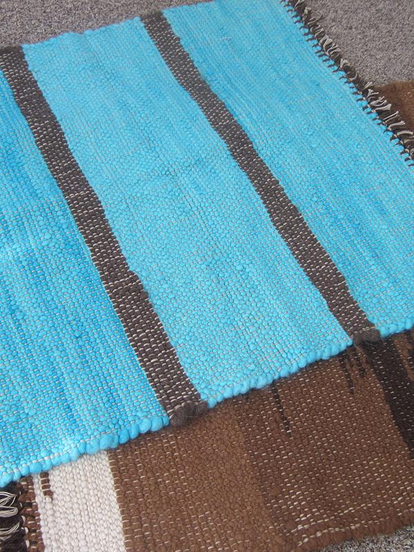 Handwoven rugs by Brenda Kraemer