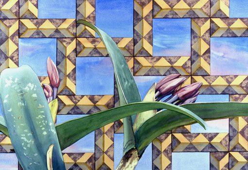 Jane Varda painting of Amber Waves