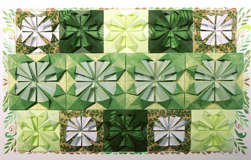 Origami 'Greening the Garden' by Tamlyn Akins