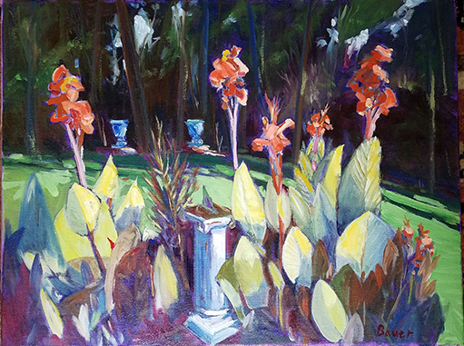 'Cannas' oil painting by Chuck Bauer