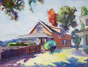 'Craig's House' oil painting by Chuck Bauer