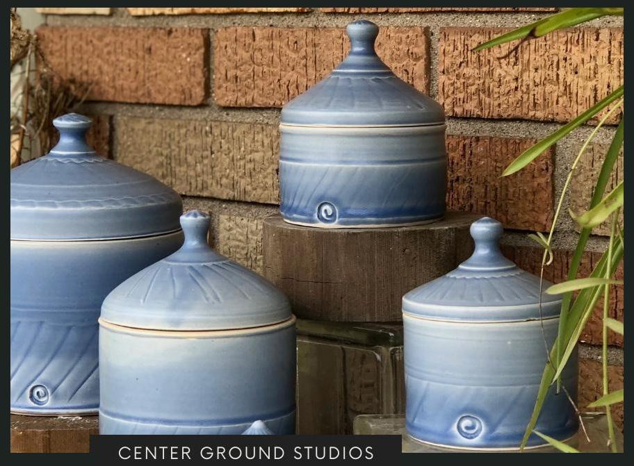 Ceramic pots by Heidi Clayton