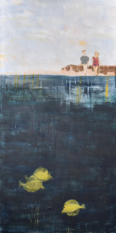 Christine Echtner's 'Wes and Amy Linger at the Sea Wall'