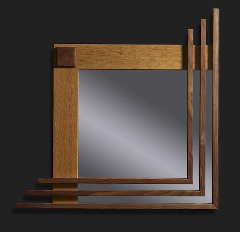 Chad Grob, square mirror, woodwork