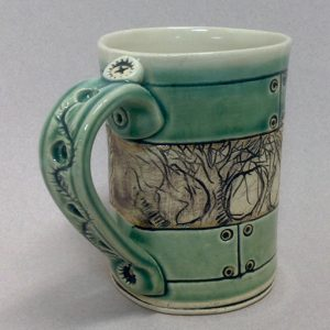 Kelley Mikel, ceramic green mug
