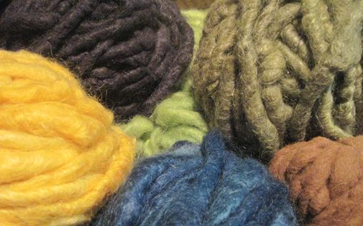 Wool from Brenda Kraemer's studio