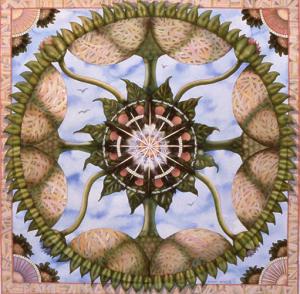 Tamlyn Akins, 'Melon Mandala', watercolor