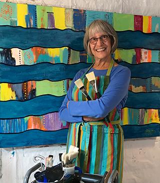 Susan Mendenhall, painter in her studio