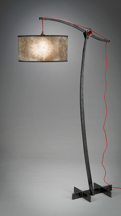 Forged lamp by Luke Proctor