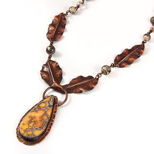 Julie Raasch, Pendant, Maligano Jasper Copper