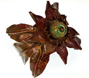 Julie Raasch, Passion Flower Cuff, metal, stone