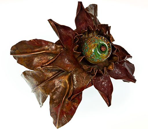 Julie Raasch, Passion Flower Cuff, metal, stone
