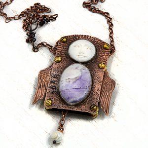Jewelry by Julie Raasch, 'Soar' mixed metal, objects