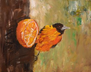 Judy Robb, 'Oriole and Orange,' oil