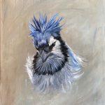 Judy Robb, Blue Jay Study 1, oil