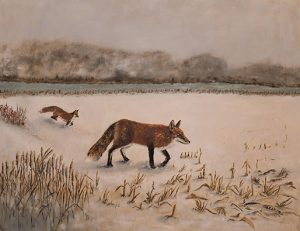 Judy Robb, 'The Seekers, Two Foxes', Oil on Linen