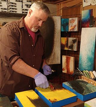 Artist Rick Ross, at work