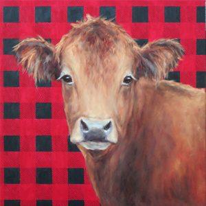 Pamela Ruschman, 'Buffalo Baby' oil