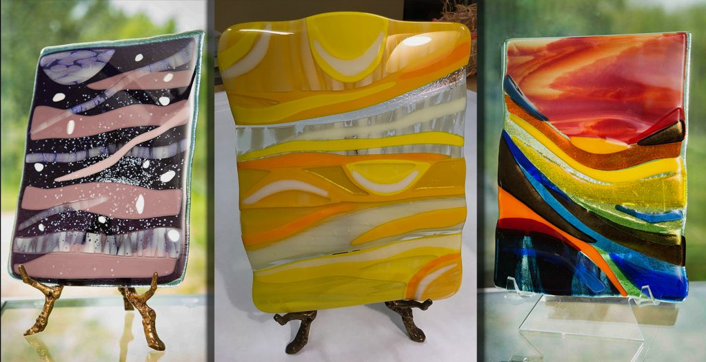 Barbara Westfall Art Glass, several small standing pieces