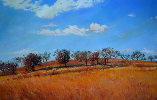 Jane Varda's 'Amber Waves' oil