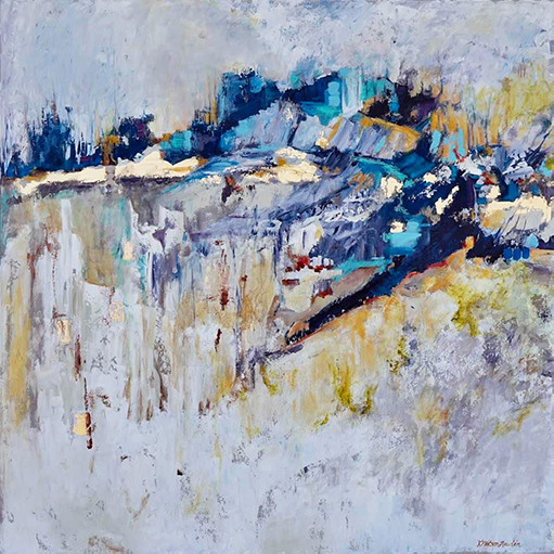 Karen Watson-Newlin, Unbounded, Acrylic on canvas with gold leaf