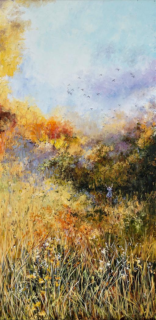 Karen Watson-Newlin, 'Look to the Sky', acrylic