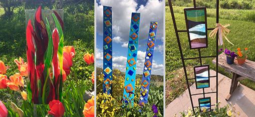 Barbara Westfall, Garden Art, Art Glass