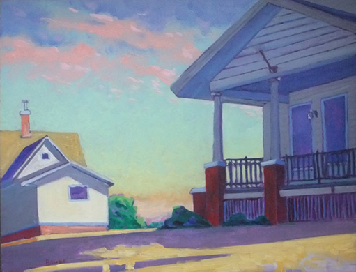 'Mt Horeb, Wisconsin' oil on panel by Chuck Bauer