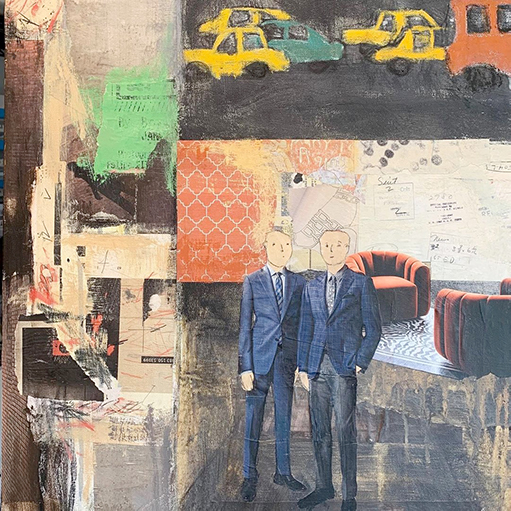 Christine Echtner, 'James And Harmon Suit Up', mixed