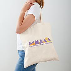 MHAAA Official Logo on canvas tote