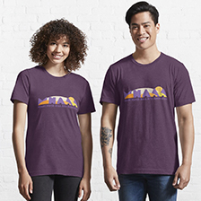MHAAA Official Logo on Essentail Tee, purple