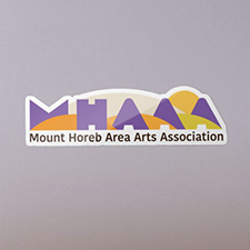 MHAAA Official Logo sticker, white