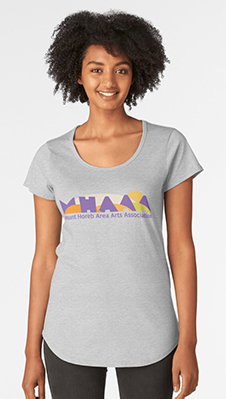 MHAAA Official Logo on scoop tee
