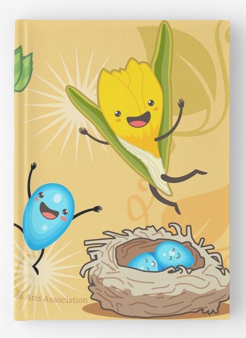 'Happy Spring' merch: journal
