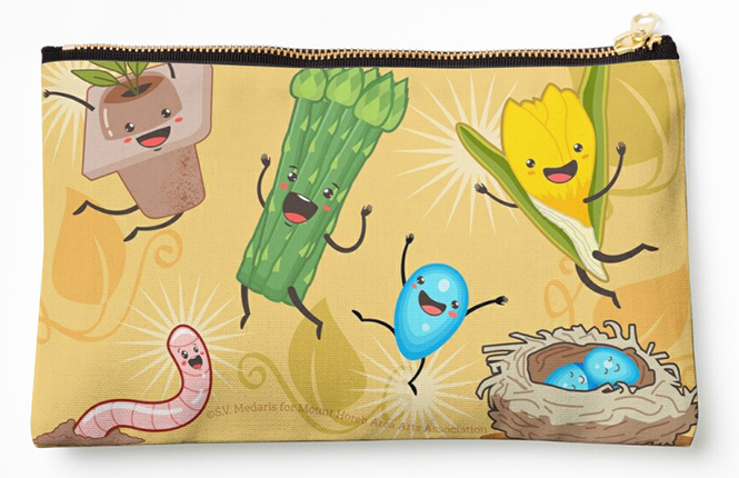 'Happy Spring' merch: zippered pouch