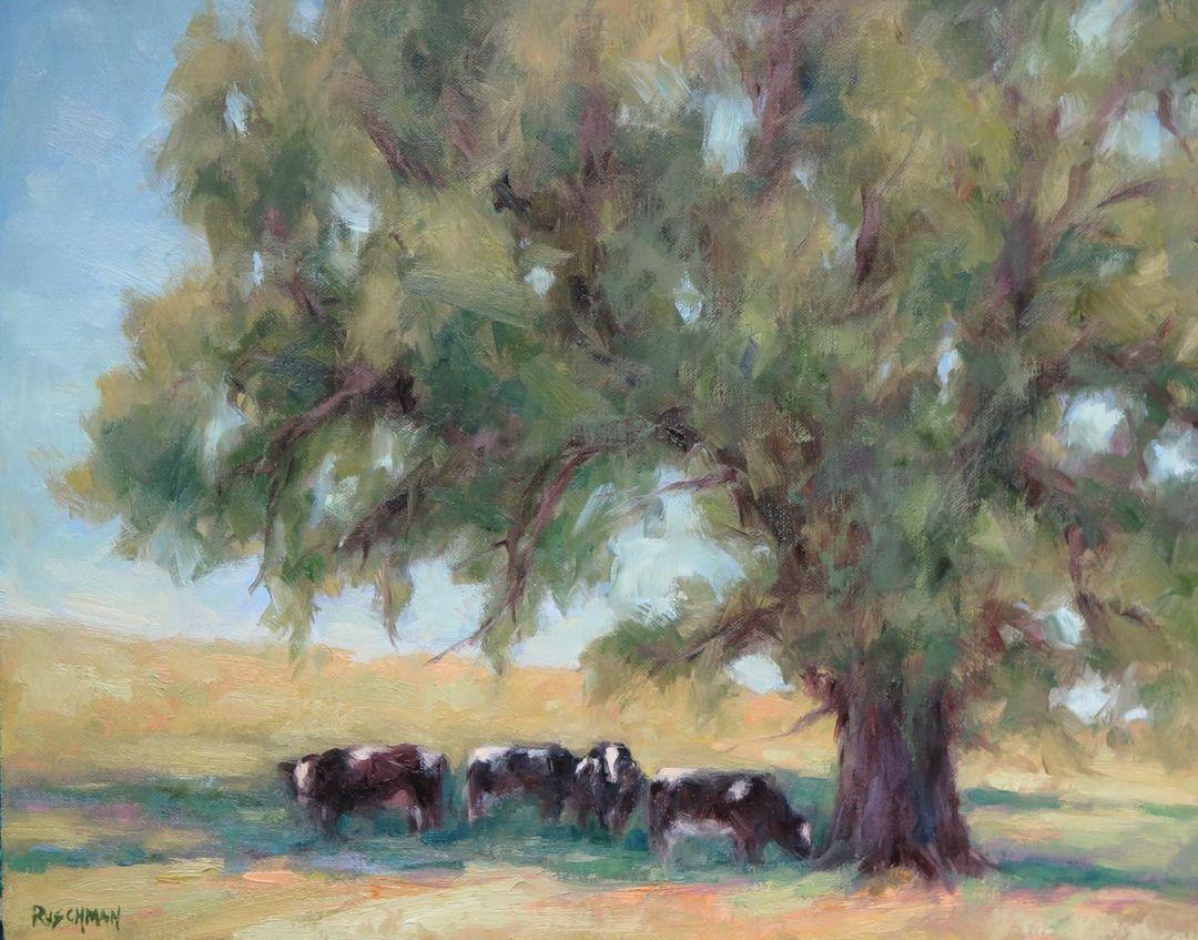 Pamela Ruschman, 'Shadowlands' oil on linen