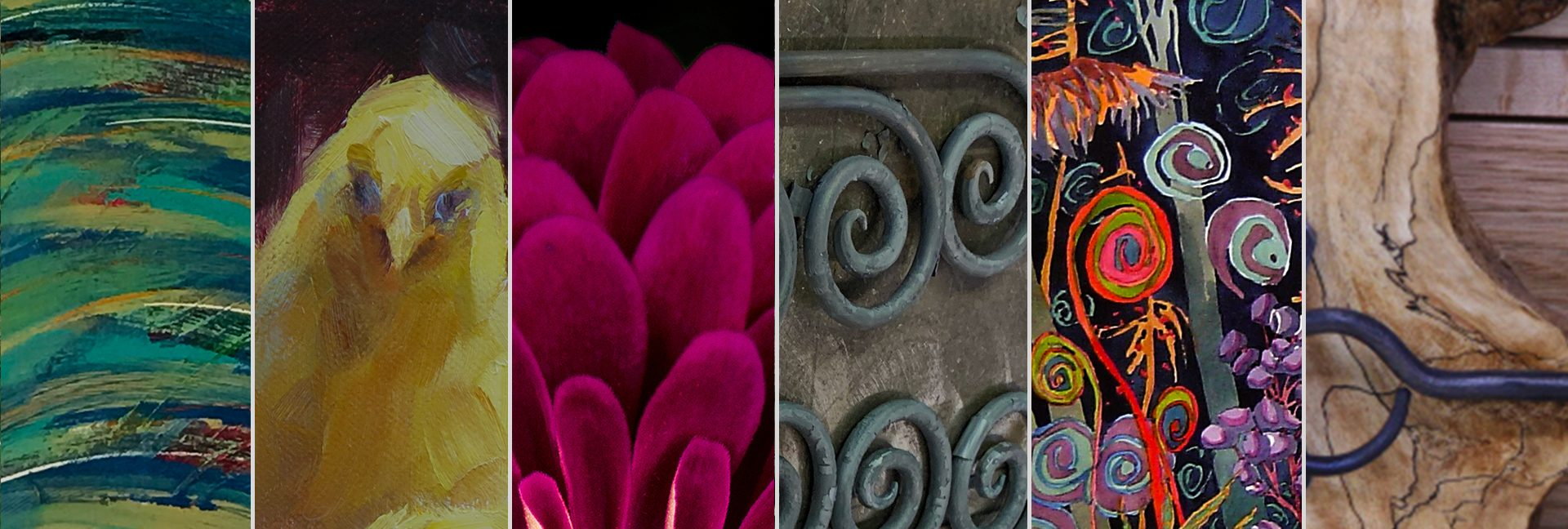 Montage of Spring Art Tour Artists work